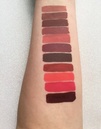colourpop ultra matte lip swatch